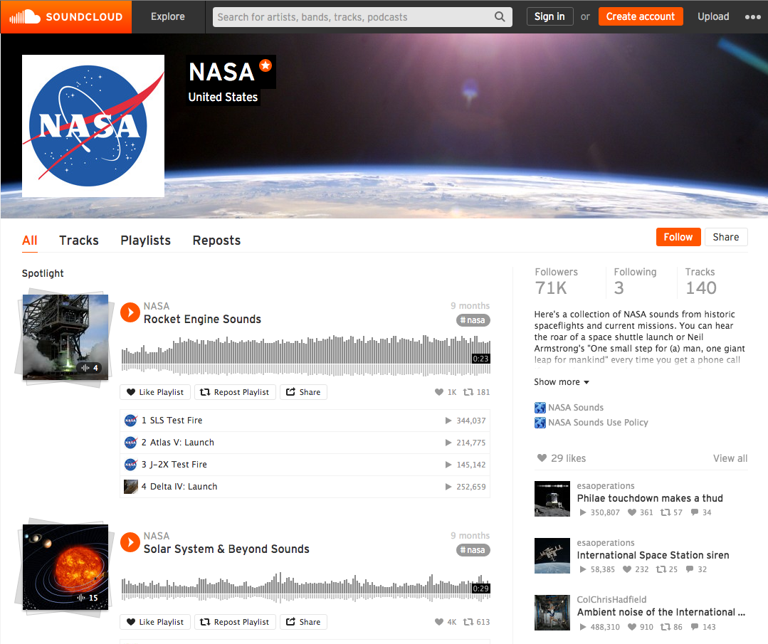 nasa releases golden record recordings on soundcloud. Black Bedroom Furniture Sets. Home Design Ideas